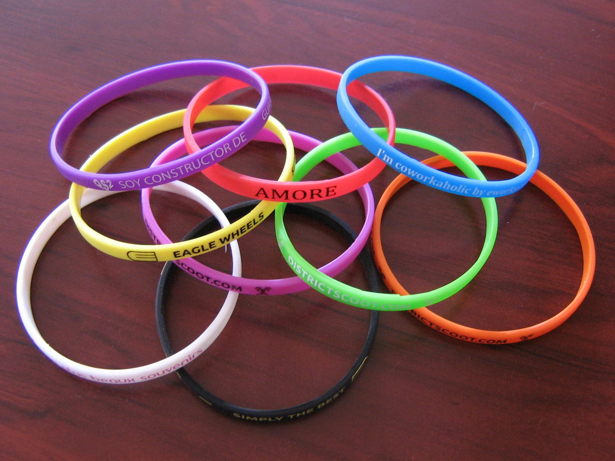 dunne silicone armbandjes