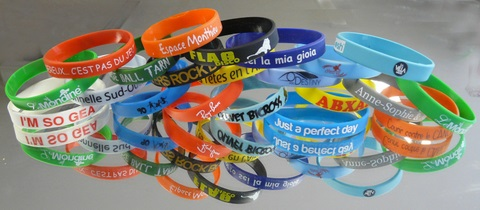 Silicone SINGLE armbandjes