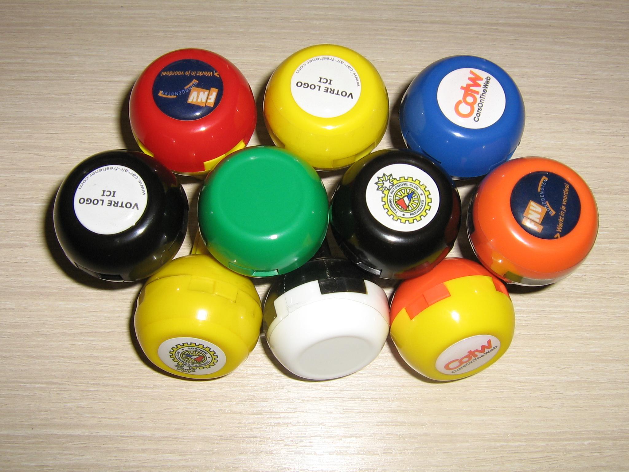 Luchtverfrissers voor de auto : Freshballs !