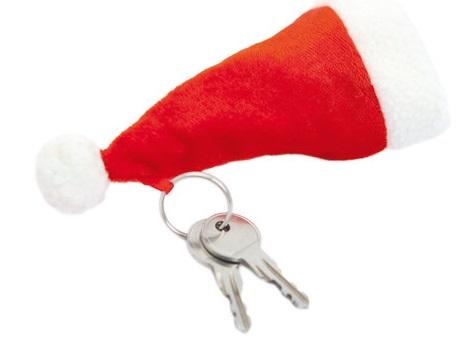 sleutelhanger kerstmutsje