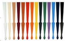 bedrukte waaiers kleuren spanen