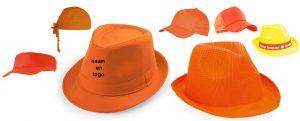 oranje hoed, pet, cap