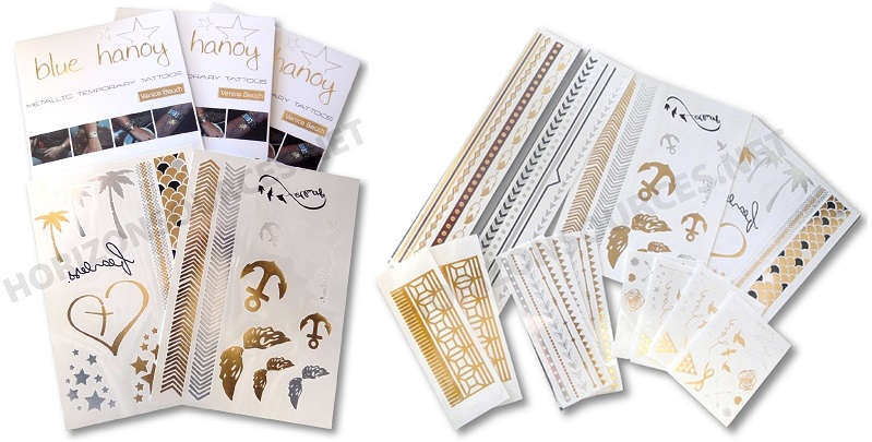 verpakking flash tattoos