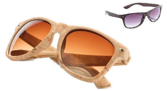 zonnebril hout