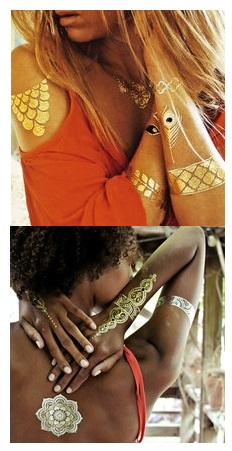 flash tattoos goud en zilver