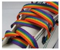 regenboog schoenveters bedrukken