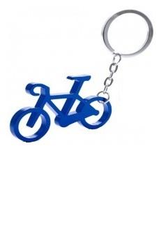 aluminium sleutelhanger in de vorm van een fiets