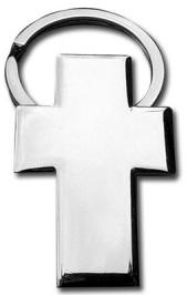 metalen sleutelhanger kruis