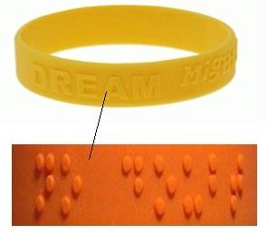 silicone armbandjes braille