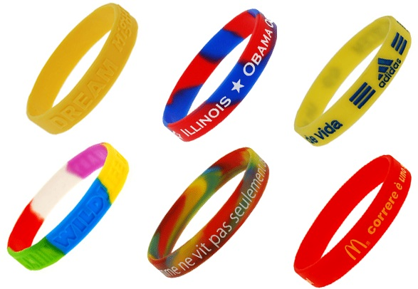Siliconen armbandjes in alle kleuren