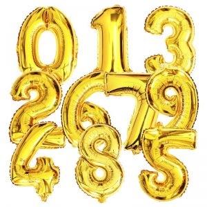 folie ballonnen cijfers en letters